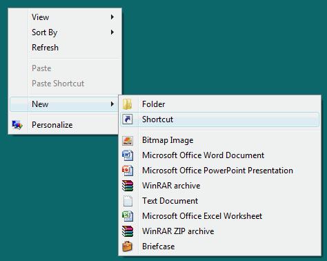Create New Desktop Shortcut to Kill Non Responsive programs