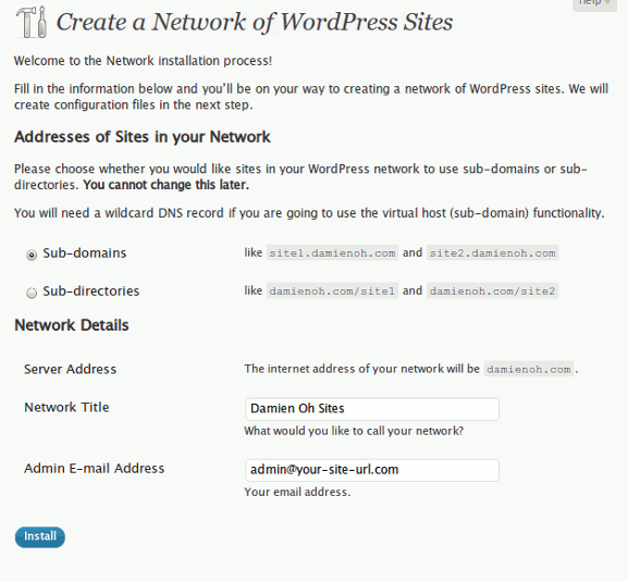 wpmu-install-network