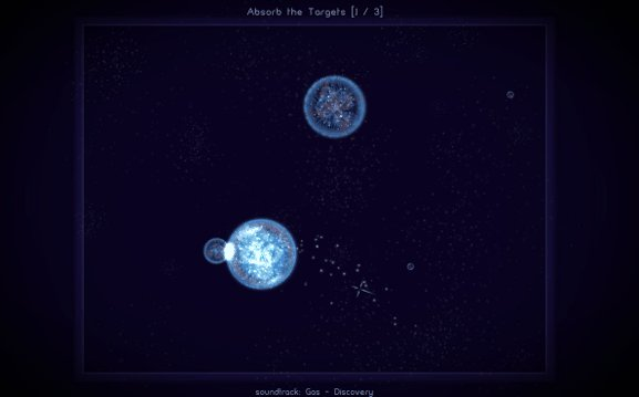 Osmos screenshot - absorbing another cell