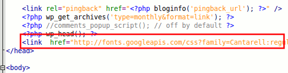 google-font-before-head-tag