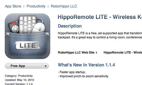 iPhone Remote - iTunes Store - Hippo