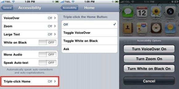 iPhone Shortcuts - Triple Clicks