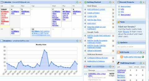 really useful web apps dashboard