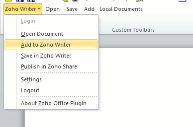 weboffice-zoho-toolbar