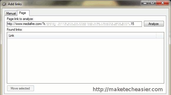 MDownloader - Adding_Links_-_Analyzing_Page.jpg