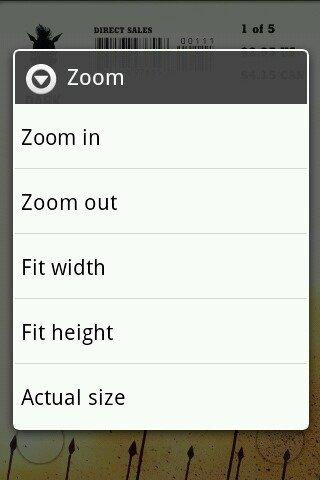 comic viewer - zoom