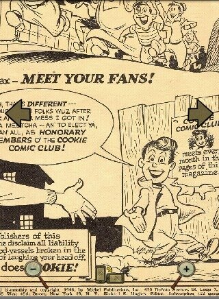 vintage comics - comic page