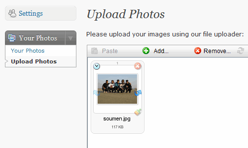 Upload Photos to FlickrQ Dashboard