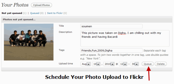 Schedule Photo Uploads to Flickr Account