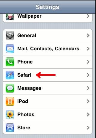 iPhone-ClearHistorySafari