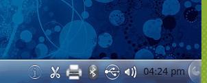 KDE 4.5 system tray