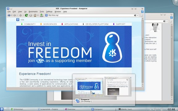 KDE 4.5 screenshot