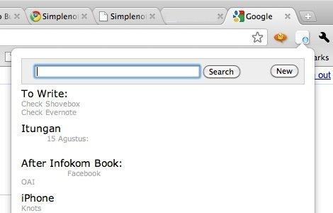 Simplenote - Google Chrome SimpleNote