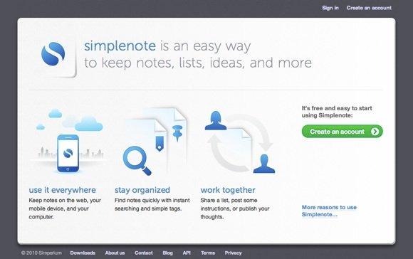 Simplenote Web