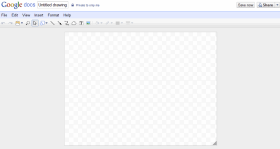 GoogleDocs Drawing -Blank Canvas page