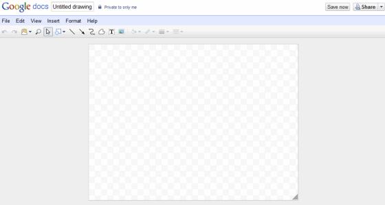 GoogleDocs Drawing -Blank Canvas page