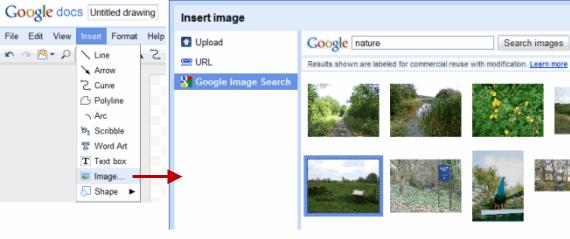 Google Docs Drawing - Insert Images