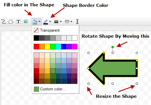 Google Docs Drawing Basics of Shapes