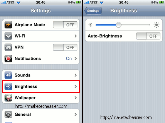 iPhone Auto Brightness