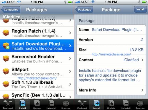 iPhone-SafariDownloadPluginInstall