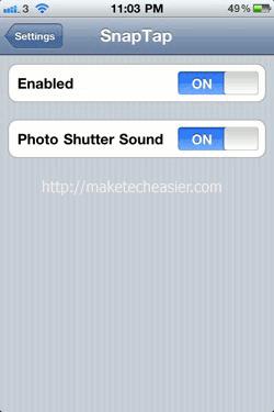 iPhone-SnapTap-Setting