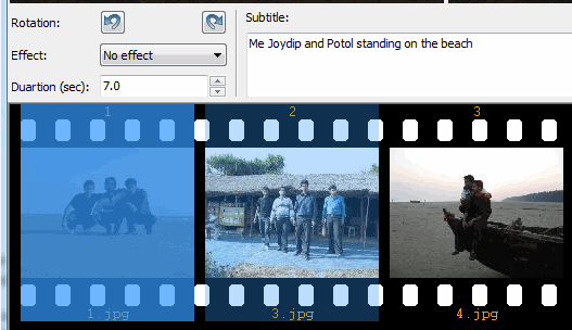 PhotoFIlmStrip - Enter Video Caption
