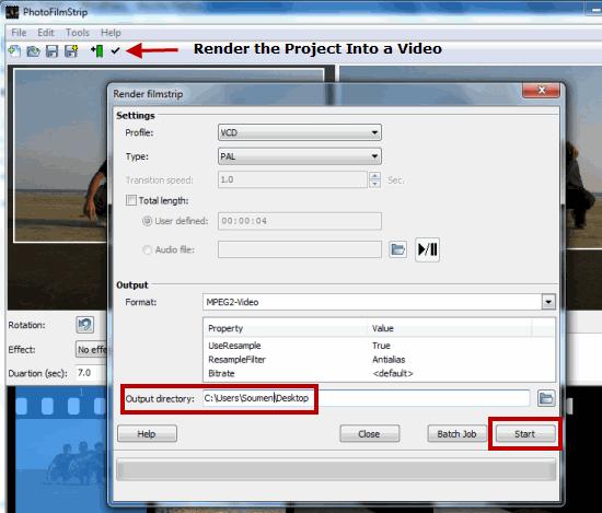 PhotoFilmStrip - Render Video