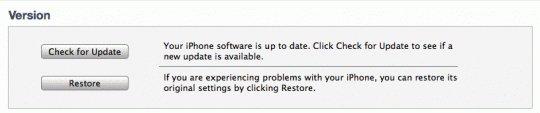iTunes-Restore
