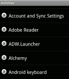 android-shortcut-activities-app