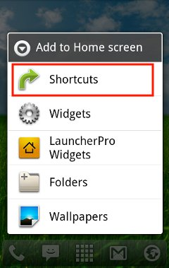 android-shortcut