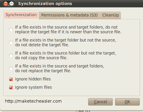 dragondisk-sync-options