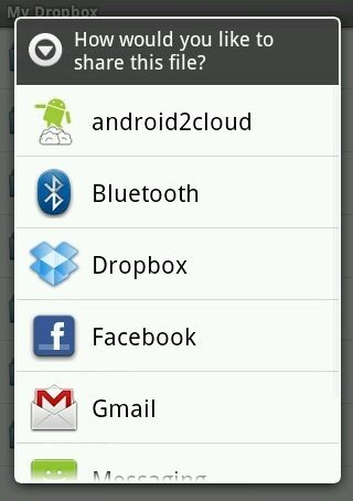 dropbox-sharing options
