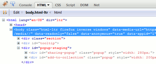 Firebug- Firefox addons for Designers and Developers
