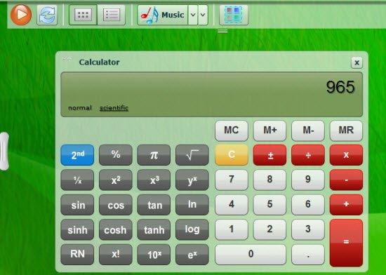 Glideos Application - Calculator