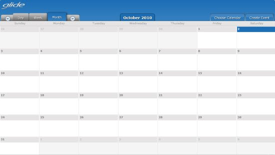 Glideos Application - Calendar and Event Management