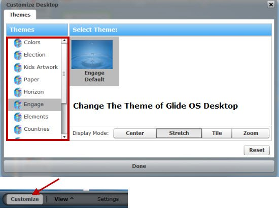Customizing the Glide desktop