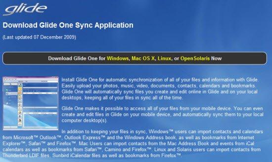 Download Glide OS Desktop client