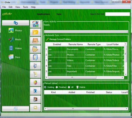 Glide desktop sync - adding folders and subfolders
