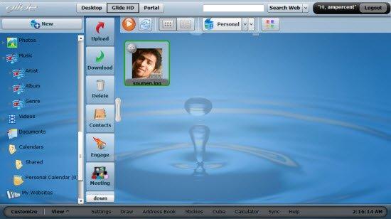 Glide desktop view