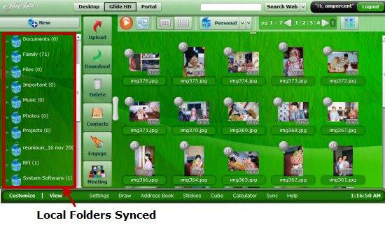 Glide Folder sync