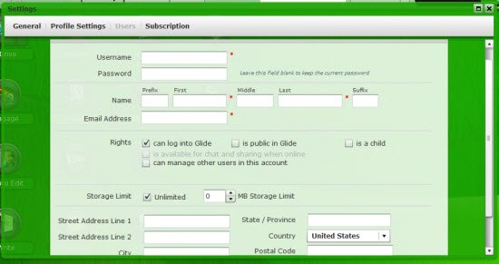 Glide OS User accounts