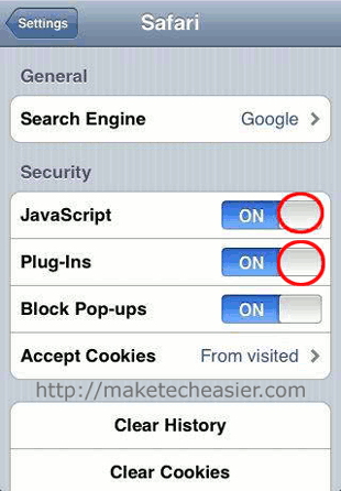 iPhone-Safari-Disable-Javascript