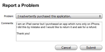 iTunes-Report-Problem