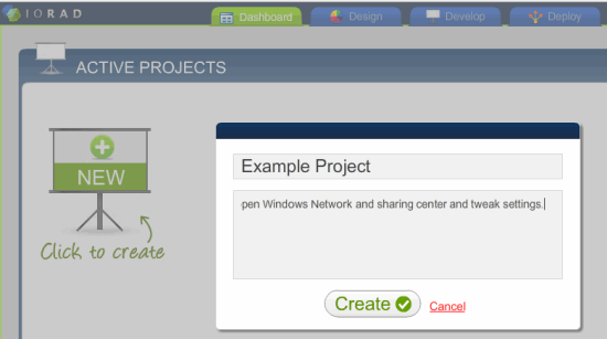 Create New IORAD Project