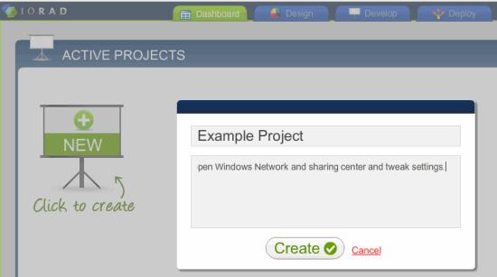 Create New IORAD Project