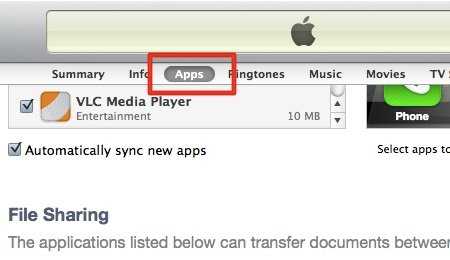 iTunes - VLC Sharing