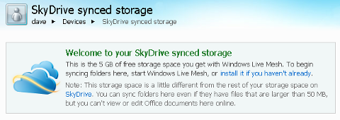 skydrive-synced-storage