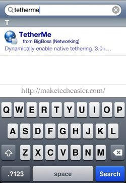 Search-TetherMe-Cydia