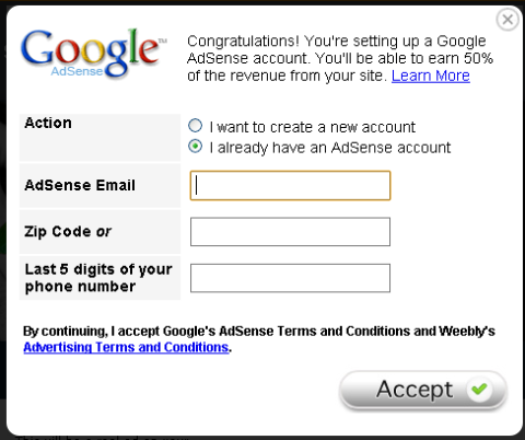 weebly-adsense
