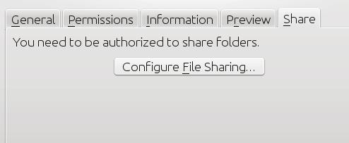KDE configure sharing button